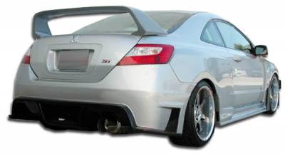 Spec-D - Honda Civic 2DR Duraflex GT500 Wide Body Rear Bumper Cover - 1 Piece - 105247