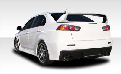 Mitsubishi Lancer Duraflex Evo X Look Rear Bumper Cover - 1 Piece - 106955