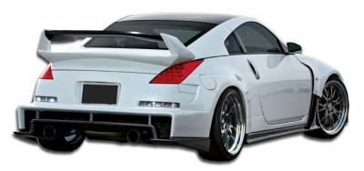 Extreme Dimensions 16 - Nissan 350Z Duraflex AM-S Wide Body Rear Bumper Cover - 1 Piece - 107226