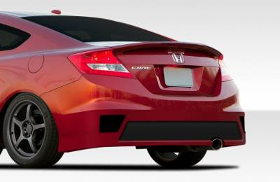 Extreme Dimensions 16 - Honda Civic 2DR Duraflex Bisimoto Edition Rear Bumper Cover - 1 Piece - 108098