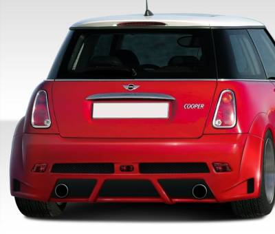 Mini Cooper Duraflex Type Z Wide Body Rear Bumper Cover - 1 Piece - 108319