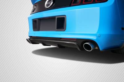 Carbon Creations - Ford Mustang Carbon Creations Boss Look Rear Diffuser - 1 Piece - 109322