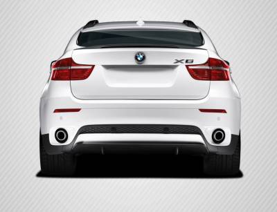 Extreme Dimensions 16 - BMW X6 Carbon Creations M Performance Look Rear Diffuser Lip Under Air Dam Spoiler - 1 Piece - 109569