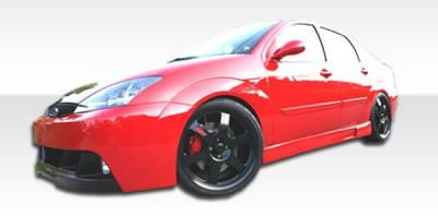 Extreme Dimensions 16 - Ford Focus Duraflex Pro-DTM Side Skirts Rocker Panels - 2 Piece - 100045