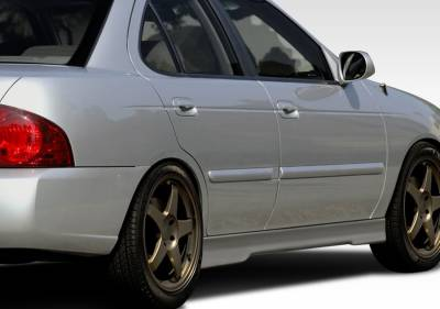 Extreme Dimensions 16 - Nissan Sentra Duraflex Evo 5 Side Skirts Rocker Panels - 2 Piece - 100151