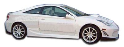 Extreme Dimensions 16 - Toyota Celica Duraflex Bomber Side Skirts Rocker Panels - 2 Piece - 100173
