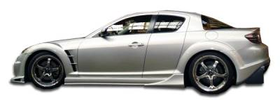 Extreme Dimensions 16 - Mazda RX-8 Duraflex Vader Side Skirts Rocker Panels - 2 Piece - 100591