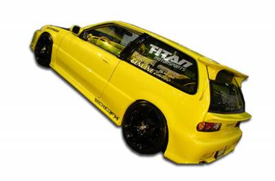 Extreme Dimensions 16 - Honda Civic HB Duraflex Type M Side Skirts Rocker Panels - 2 Piece - 100784
