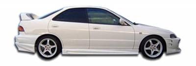 Duraflex - Acura Integra 4DR Duraflex Bomber Side Skirts Rocker Panels - 2 Piece - 101387