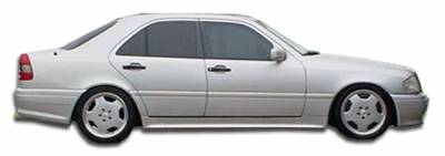 Extreme Dimensions 16 - Mercedes-Benz C Class Duraflex AMG Look Side Skirts Rocker Panels - 2 Piece - 101487