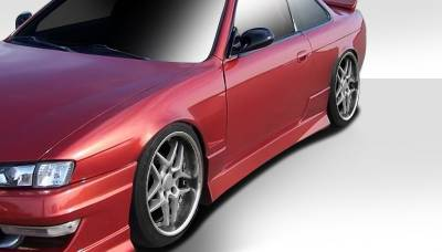 Extreme Dimensions 16 - Nissan 240SX Duraflex Type U Side Skirts Rocker Panels - 2 Piece - 101647