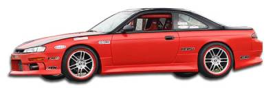 Extreme Dimensions 16 - Nissan 240SX Duraflex V-Speed Side Skirts Rocker Panels - 2 Piece - 101651