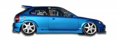 Extreme Dimensions 16 - Honda Civic 2DR & 3DR Duraflex Bomber Side Skirts Rocker Panels - 2 Piece - 101719