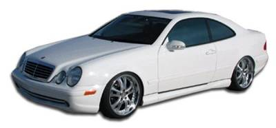 Extreme Dimensions 16 - Mercedes-Benz CLK Duraflex AMG Look Side Skirts Rocker Panels - 2 Piece - 103046