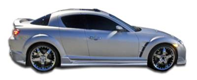 Extreme Dimensions 16 - Mazda RX-8 Duraflex Raven Side Skirts Rocker Panels - 2 Piece - 103215