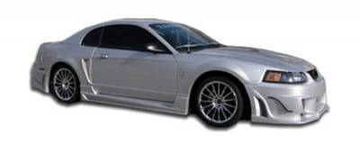 Extreme Dimensions 16 - Ford Mustang Duraflex Bomber Side Skirts Rocker Panels - 2 Piece - 103275