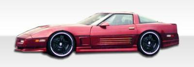 VIS Racing - Chevrolet Corvette Duraflex GTO Side Skirts Rocker Panels - 2 Piece - 103451
