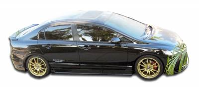 Extreme Dimensions 16 - Honda Civic 4DR Duraflex B-2 Side Skirts Rocker Panels - 2 Piece - 103519