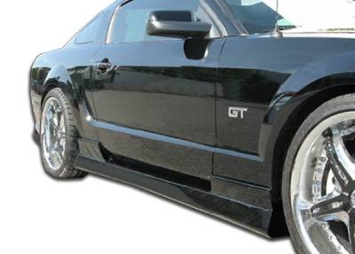 Extreme Dimensions 16 - Ford Mustang Duraflex Stallion Side Skirts Rocker Panels - 2 Piece - 104297