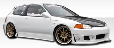 Extreme Dimensions 16 - Honda Civic HB Duraflex B-2 Side Skirts Rocker Panels - 2 Piece - 105544