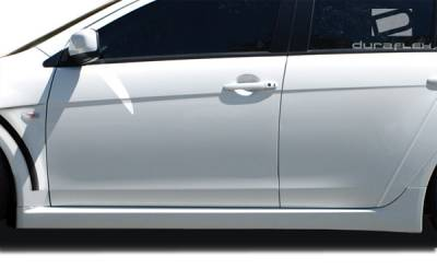 Mitsubishi Lancer Duraflex Evo X Look Side Skirts Rocker Panels - 2 Piece - 106954