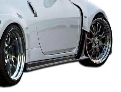 Silk - Nissan 350Z Duraflex AM-S Wide Body Side Skirts Rocker Panels - 2 Piece - 107225