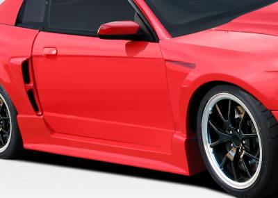 Ford Mustang Duraflex CBR500 Wide Body Side Skirts Rocker Panels - 2 Piece - 107581