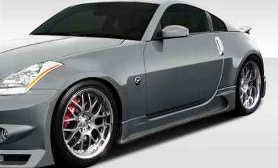 Nissan 350Z Duraflex J-Spec Side Skirts Rocker Panels - 2 Piece - 107830