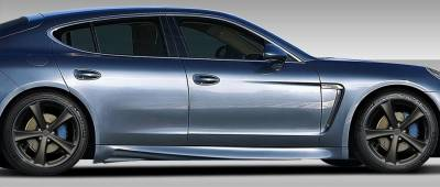 Porsche Panamera Duraflex Eros Version 3 Side Skirts Rocker Panels - 2 Piece - 108283