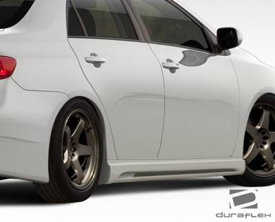 Duraflex - Toyota Corolla Duraflex W-1 Side Skirts Rocker Panels - 2 Piece - 108399