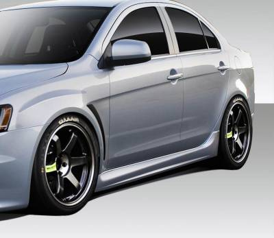 Mitsubishi Lancer Duraflex Evo X V3 Side Skirt Rocker Panels - 2 Piece - 109414