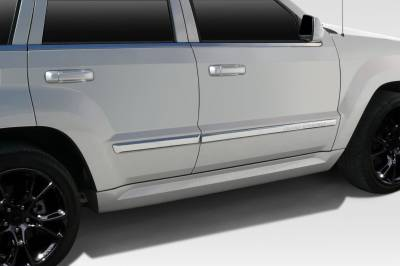 Jeep Grand Cherokee Duraflex SRT Look Side Skirt Rocker Panels - 2 Piece - 109588