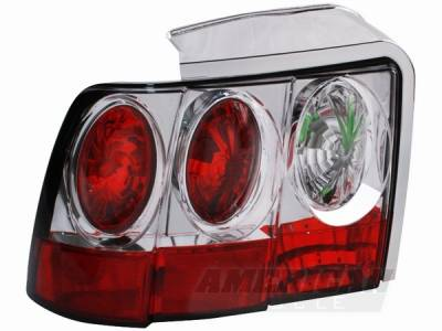 AM Custom - Ford Mustang Chrome Euro Taillights - 49025