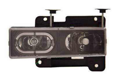 Anzo - GMC CK Truck Anzo Headlights - Crystal with Halo Black - 111007