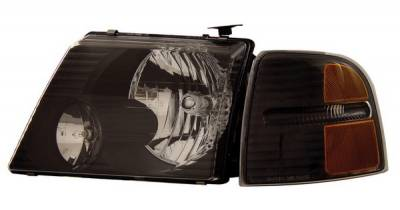Anzo - Ford Explorer Anzo Headlights - Black with Amber Reflectors - 111071