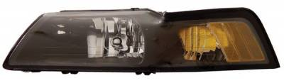 Anzo - Ford Mustang Anzo Headlights - Crystal & Black - 121040