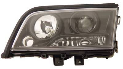 Anzo - Mercedes-Benz C Class Anzo Projector Headlights - Black - 121188
