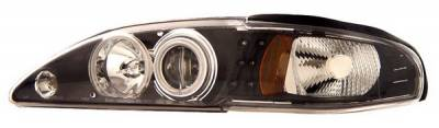Anzo - Ford Mustang Anzo Projector Headlights - Black Clear with CCFL Halos - 1PC - 121204