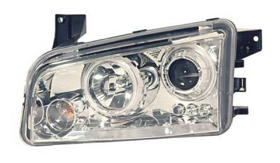 Anzo - Dodge Charger Anzo Projector Headlights - Halo Chrome & Clear - CCFL - 121217