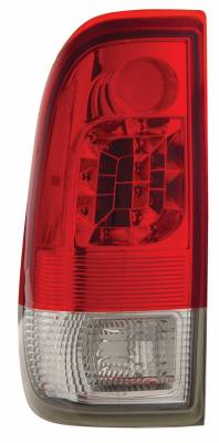 Anzo - Ford Superduty Anzo LED Taillights - Red & Clear - 311025