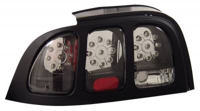 Anzo - Ford Mustang Anzo LED Taillights - Black - 321023
