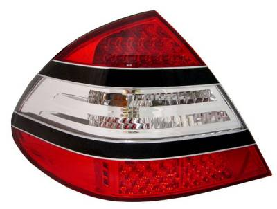 Anzo - Mercedes-Benz E Class Anzo LED Taillights - Red & Clear - Black Center - 321142