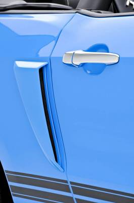 3dCarbon - Ford Mustang 3dCarbon Side Quarter Panel Scoop with Gel Decals - Pair - 691605