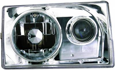 APC - Ford Mustang APC Headlights with Projector Foglights & Chrome Housing - 403533HL