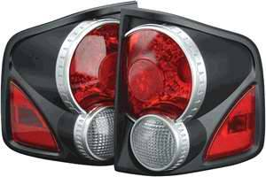 APC - APC 3D Retro Black Satin Taillights - 404712TLB