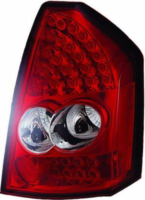 APC - Chrysler 300 APC LED Taillights with Red & Clear Lens - 406811TLR