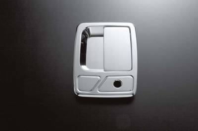 All Sales - All Sales Chrome Billet Door Handle Replacements - Left and Right Side with Lock - 510C