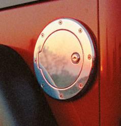 All Sales 6092PL Billet Fuel Door; Polished; Locking; Aluminum; Ring O.D 8 1//8