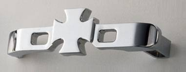 All Sales - All Sales Chrome Billet Door Handle Replacements - Iron Cross Handle Kit - 972C