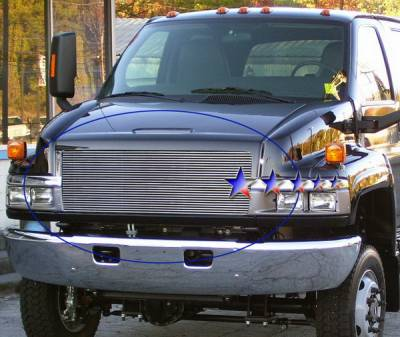 APS - Chevrolet Kodiak APS Billet Grille - Upper - Aluminum - C86631A